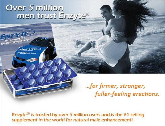 As Seen At TV Presents: Enzyte Natural Male Enhancement - Sale! $39.95 for 30 Tablets - Enzyte, Avela or Extenze?  Does Enzyte Work?  Enzyte - The once-daily tablet for natural male enhancement. Maximize the Pleasure with Enzyte Enhancement Pill, from Berkeley Premium.  Enzyte's natural blend includes Korean Red Ginseng as well as Ginkgo Biloba, which are known to improve blood flow and circulation as well as enhance physical performance, including sexual stamina. Taking Enzyte daily may help: 1) Increase blood flow all day and all night, 2) Achieve firmer, stronger, fuller-feeling erections, 3) Reach peak sexual enhancement.  With over 10 million boxes sold, it's time you gave Enzyte a try. Discover the power of Enzyte for yourself - order now!. Available here on http://www.AsSeenOnTVStoreOnline.com!