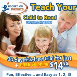 As Seen At TV Presents: Hooked on Phonics - $14.95 trial offer<br>Try it Risk-FREE for 30 Days! - The famous and award-winning Hooked on Phonics program has been teaching kids to read for generations. Try Hooked on Phonics Learn to Read risk-free for 30 days!<br><br> 8 DVDs of engaging animations and graphics to visually enforce the learning process.<br> 36 Original Storybooks wonderfully written and illustrated.<br> 8 Workbooks fun and engaging that reinforce what has just been learned.<br> Award-Winning Authors write exclusively for Hooked on Phonics.<br> Quick Start Guide that gets you on the road to helping your child right away.. Available here on http://www.AsSeenAtTV.com!