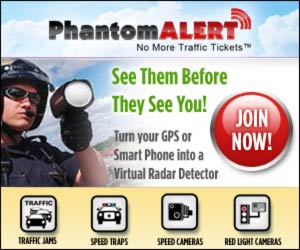 As Seen At TV Presents: PhantomALERT - Starting at $9.99 per Month!<br>FREE Trial Now! - Then get the PhantomALERT� app for your GPS or SmartPhone. Simply download the app and receive audible and visual alerts every time you approach known enforcement or safety zones. Advanced warnings give you ample time to slow down and be aware of your surroundings. Speed traps, red light cameras, speed cameras, you will see them before they see you. The first time it works, it has paid for itself. With PhantomALERT� on your GPS or SmartPhone you can drive anywhere in the US or Canada ticket-free.  PhantomALERT��s database is the largest, most accurate in the world and is constantly updated by drivers like you.  30-day money back guarantee. Available here on http://www.AsSeenOnTVWorld.com!